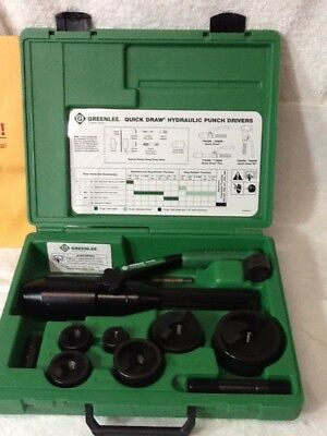 Greenlee 7806SB Quick Draw Hydraulic Punch Driver Kit