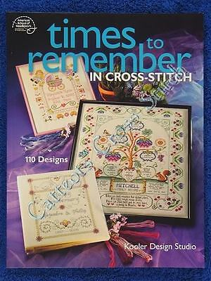 Cross Stitch Pattern Times To Remember 110 Designs Baby Birthday Wedding KDS