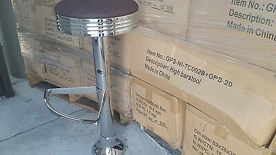 Floor mount bar stool retro style