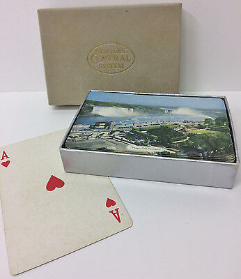 Vintage New York Central Nyc Playing Cards In Box - Niagra Falls Picture