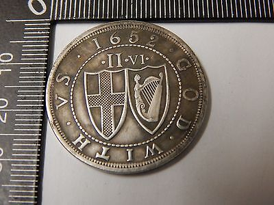 1652 commonwealth of england half crown cromwell 350 years pattern by blondeau
