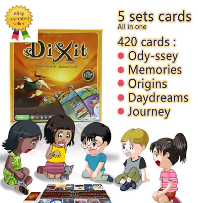 Dixit English board game gather 420 cards odassey/origins/journey/daydreams/memo