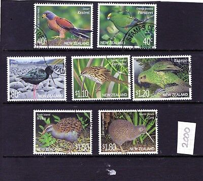 NEW ZEALAND 2000 Birds set of 7 Fine Used / CTO