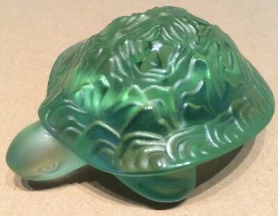 Lalique Glass France Sidonie Turtle Sea Green