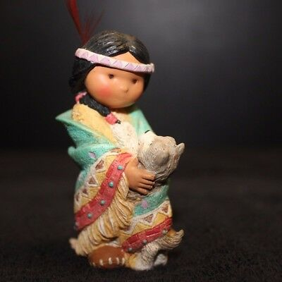 Enesco Friends Of The Feather - 1994-Dances With Wolf #115657 - EC