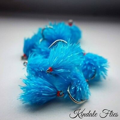 Competition Kingfisher Blobs Size 10 wide Gape (Set of 3) Fly Fishing Buzzers
