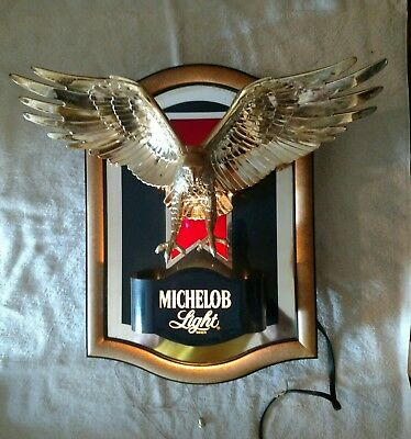 Vintage Michelob Light Eagle Wall Light