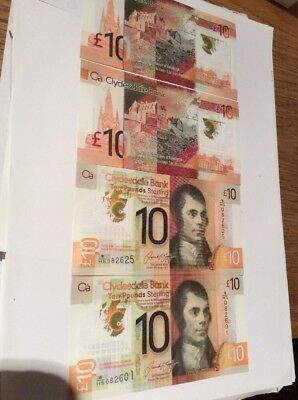Clydesdale Bank Polymer £10 First Issue WHS Released Today Uncirculated X1