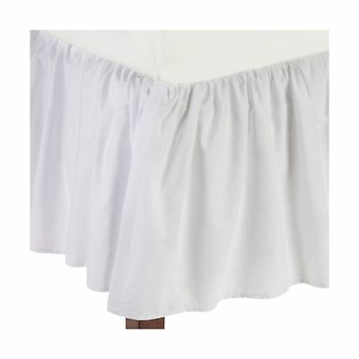 American Baby Company 160-WH Percale Crib Bed Skirt (White) White New