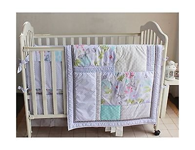 Baby Girls Dream Butterflly 9pcs Crib Cot Bedding Set with diaper stacker... New
