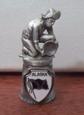 Thimble -  Pewter Alaska Gold Panner