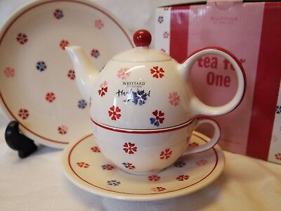 Whittard Tea for One Set Brand New with Side Plate Hearts
