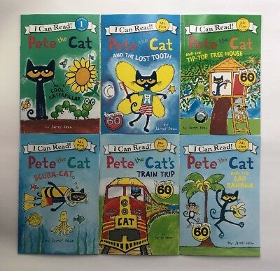 Pete the Cat Lot 6 My First I Can Read Learn to Read Childrens Books Set NEW
