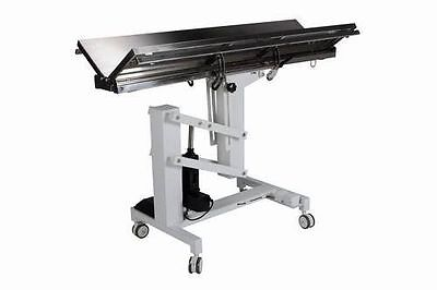New Veterinary Surgical Operating Table Model 828 Electric 300lb Lift V-Top Tilt
