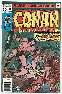 Conan the Barbarian #78 FN/VF Marvel Comics 1977 - Red Sonja