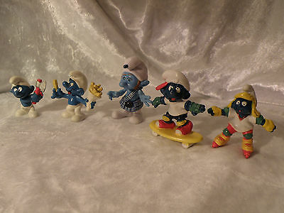 Smurfs Lot Of 5 Schleich Peyo Bully See Pictures Lot C