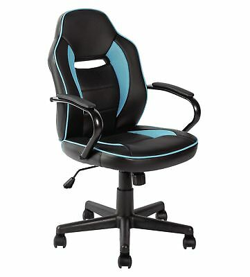 HOME Mid Back Office Gaming Chair - Blue & Black .