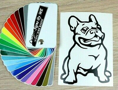 French Bulldog Car Sticker JDM Vinyl Decal Window Bumper Tailgate Laptop BLACK#1