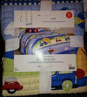 Sears Crb Kids Trucks Twin Quilt Easy Care Nwt