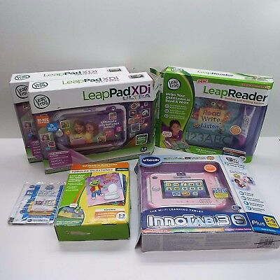 2X LEAPFROG LEAPPAD ULTRA XDi KIDS LEARNING TABLET + LEAP READER (LOOK DESC.)T64