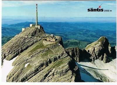 Switzerland Postcard Santis Mountain Highest in Alpstein Region