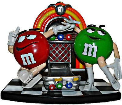 M&M's Rock'n Roll Cafe Jukebox Candy Dispenser Red & Green