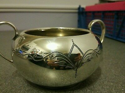 Beautiful Vintage Silver Plate Sugar Bowl VGC