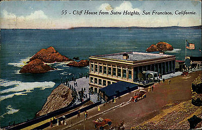 San Francisco USA California 1925 Cliff House Sutro Heights Amerika Postcard