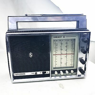 VINTAGE SUPERSONIC CONQUEST 2 II RADIO PORTABLE MUSIC Chassay Bros