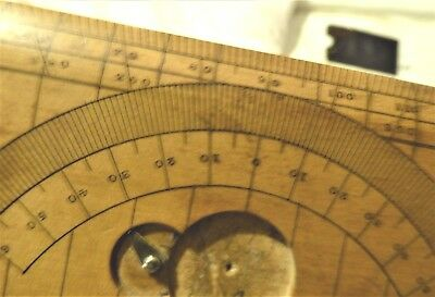 RARE 19th CENTURY BOXWOOD SANDHURST PROTRACTOR BY STANLEY LONDON VG CONDITION