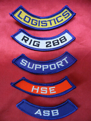 LOT of 5 OILPATCH shirt PATCHES New
