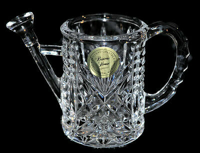 PRINCESS HOUSE 24% Lead Crystal Watering Can #856 Ornament Made in Germany EUC