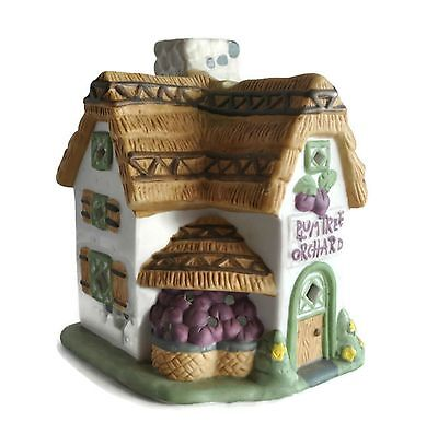 PARTYLITE Plum Tree Orchard Tealight House Votive Candle Holder Cottage Village
