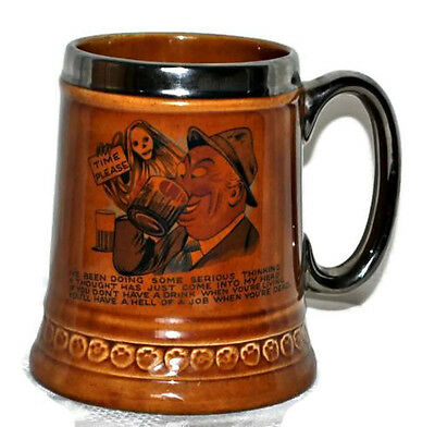 Vintage 1972  Unique LORD NELSON Pottery Beer Mug Drinking Stein England EUC