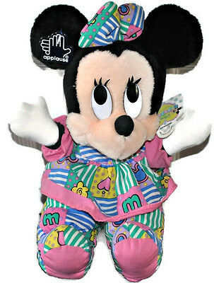 """Vintage Applause DISNEY Babies 9"""" Minnie Mouse Plush Baby Mickey Collection MINT"""