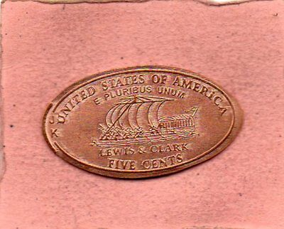 Untied States Of America Lewis Clark Elongated Penny