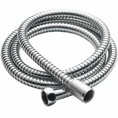 New 2M Stainless Steel Chrome Flexible Shower Head Hose Bathroom Pipe