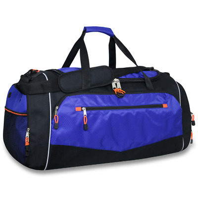 Lot of 12 Wholesale 28 Inch Deluxe Duffle Bag with Large Zippers & Side Pockets