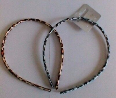 Fabric Animal Print Alice band Choice of Two Colours