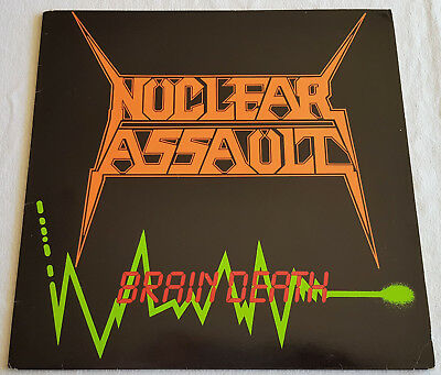 Nuclear Assault – Brain Death - EP - 1986 - Rare First Press without Barcode!