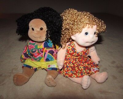 Two Ty Beanie Kids Calypso African American Girl Doll & Princess New with tags