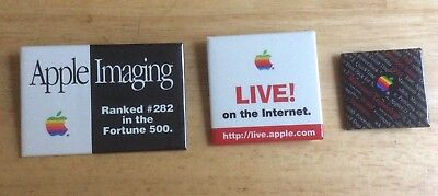 *rare* lot of 3 ~APPLE~ vintage pinback pins APPLE IMAGING + 1992 FALL PRODUCT