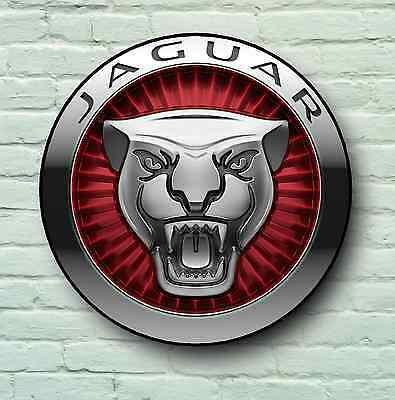 Jaguar Logo 2Ft Large Garage Sign Wall Plaque Classic Car Xf Xk Xj F Type Xks