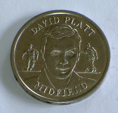 The Official England Squad 1996 Medal Collection Coin DAVID PLATT