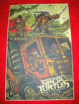 "WonderCon 2016 Teenage Mutant Ninja Turtles Out of The Shadows Poster 11"" by 17"""