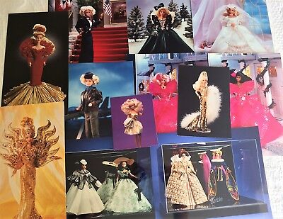 15 Color Barbie Photos by Mattel, various sizes plus Folder