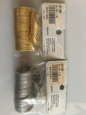 Brass Rings Nickel Free Gold And Silver 50pcs/pack Fashion Component