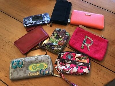 Lot Of 8 Wallets Coach, Sakroots, Miss Albright, Thirty-one, Banuce, Lesportsac