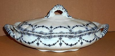 Antique Keeling & Co Losol Ware Brighton Pattern Pottery Lidded Tureen