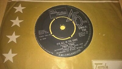 "FOUR TOPS - Its All In The Game - IRISH PRESSING 7"" IRELAND MOTOWN SOUL"